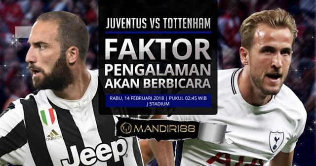 Prediksi Juventus Vs Tottenham Hotspur, Rabu 14 February 2018 Pukul 02:45 WIB @ SCTV