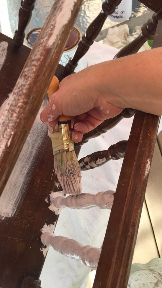 Use a short handle brush for tight spaces.