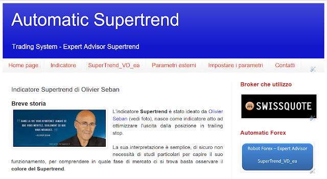Indicatore supertrend forex