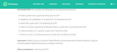 Whatsapp compatibilidad