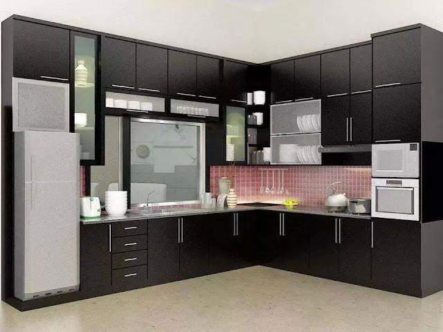 34 contoh desain kitchen set minimalis modern paling keren
