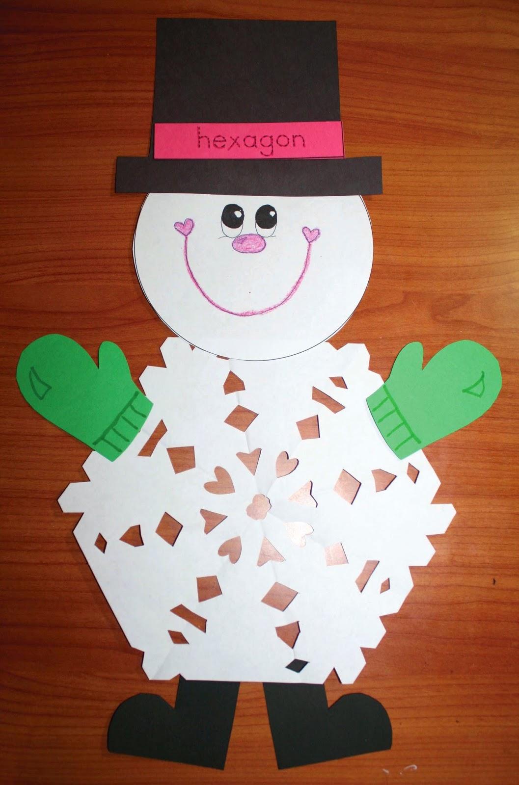 Classroom Freebies 2d Shaped Snowflake Patterns