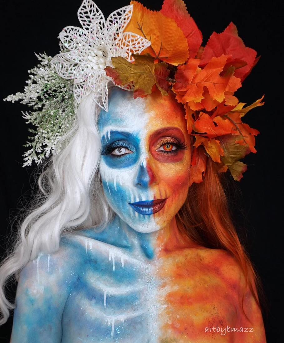 04-Goodbye-Autumn-Hello-Winter-Brenna-Mazzoni-Body-Paint-Fx-Makeup-Transformations-www-designstack-co