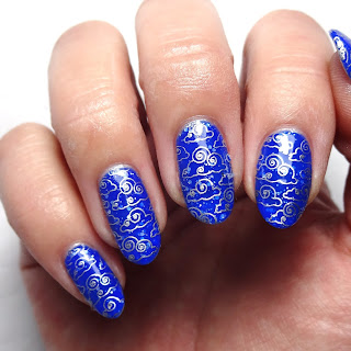 Cloud Stamped Nails