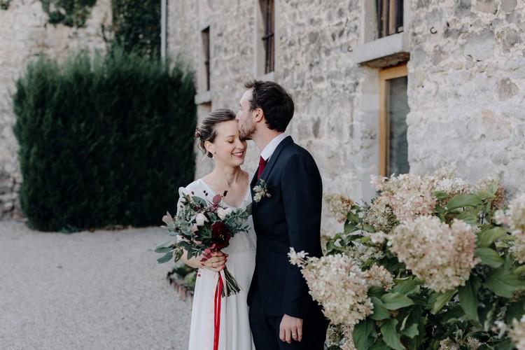Bouquet de mariée d'automne, Laure de Sagazan, Robe de mariée