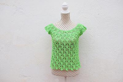 2 - Crochet Imagen Blusa de mujer a crochet muy rapido y facil de hacer a ganchillo. Majovel Crochet.