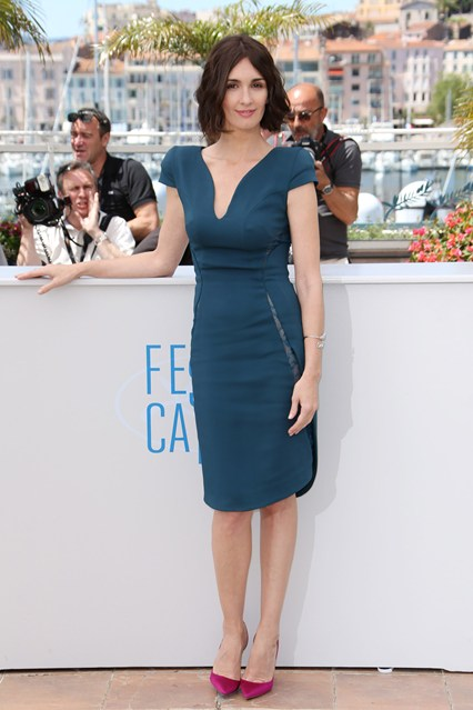 Paz Vega in an teal Elie Saab dress at Cannes 2014