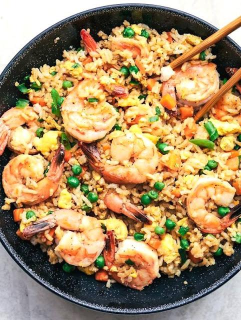 arroz de gambas receta