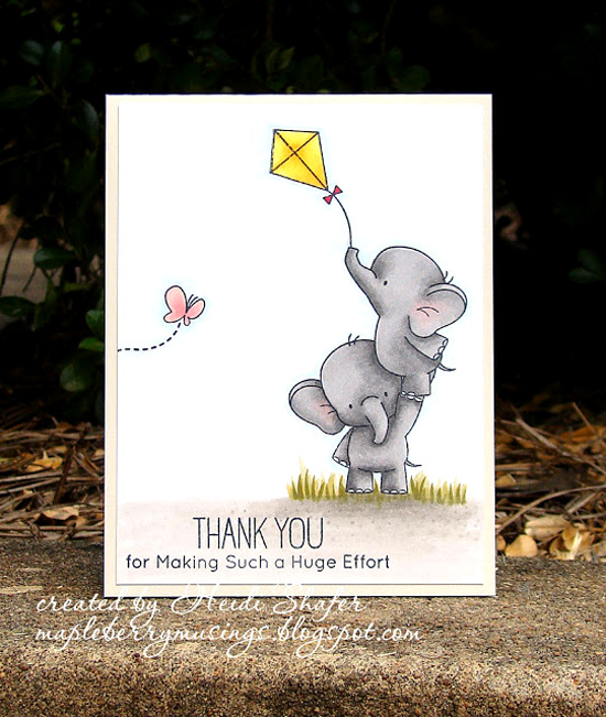 Birdie Brown Adorable Elephants stamp set - Heidi Shafer #mftstamps