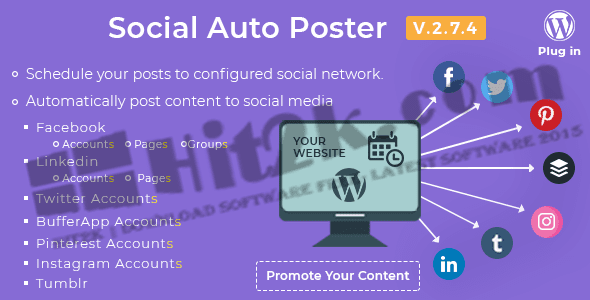 Social Auto Poster v2.6.0-WordPress Plugin Download