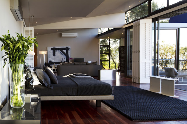 Modern bedroom on the upper floor
