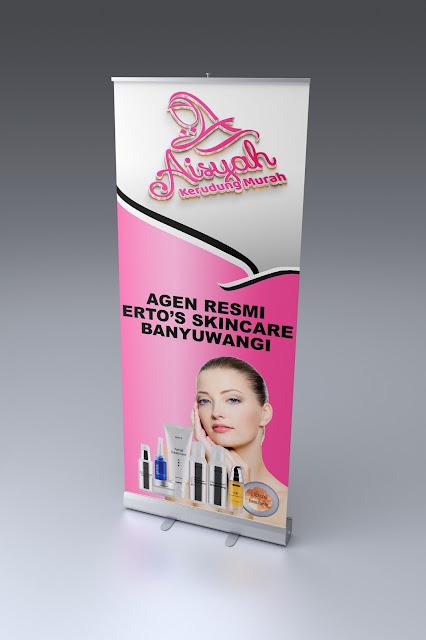 Desain Roll Up Kosmetik