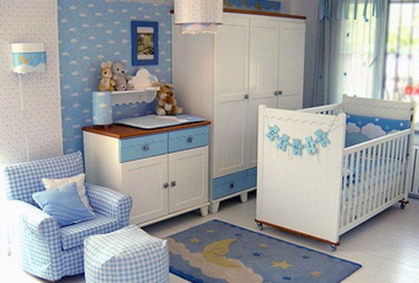 Gorgeous Blue Theme Baby Room Latest