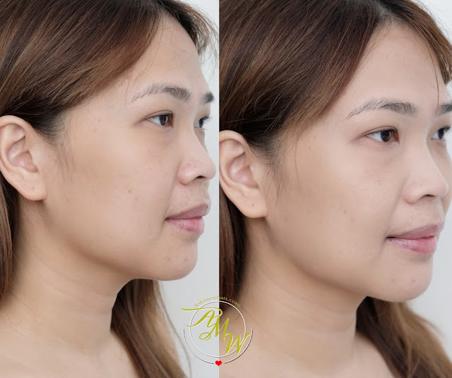before and after photo of  Flormar HD Invisible Cover Foundation Review by Nikki Tiu www.askmewhats.com