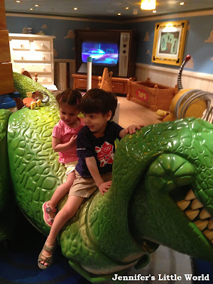 Children in play area on Disney cruise ship