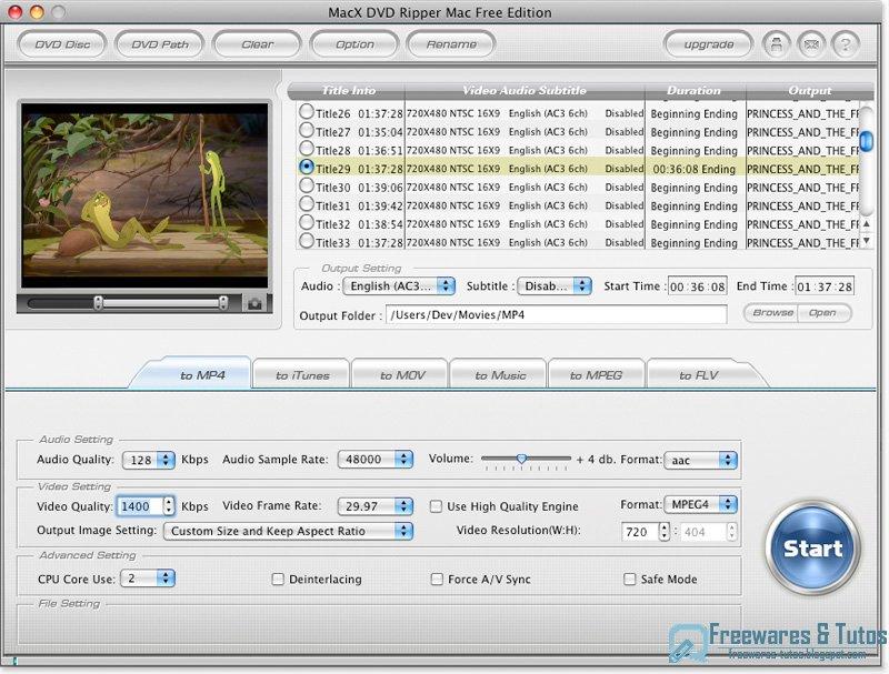 macx dvd ripper mac free edition   un logiciel gratuit