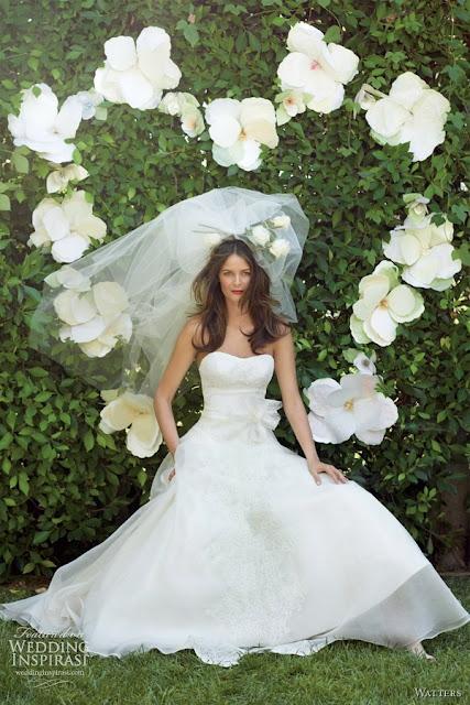 vestidos de novia sencillos con encaje largos