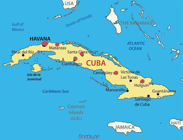 Hurt americans to hurt cuba cubaninsider the red dots on this map indicate six of the cuban cities that american airlines will be flying to the obama and cuban plans call for up to 110 daily gumiabroncs Image collections