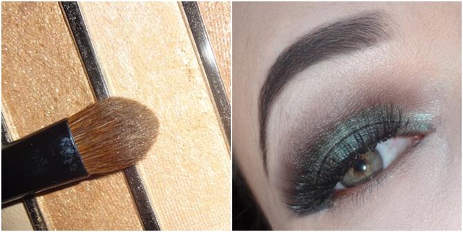 maquiagem verde com preto