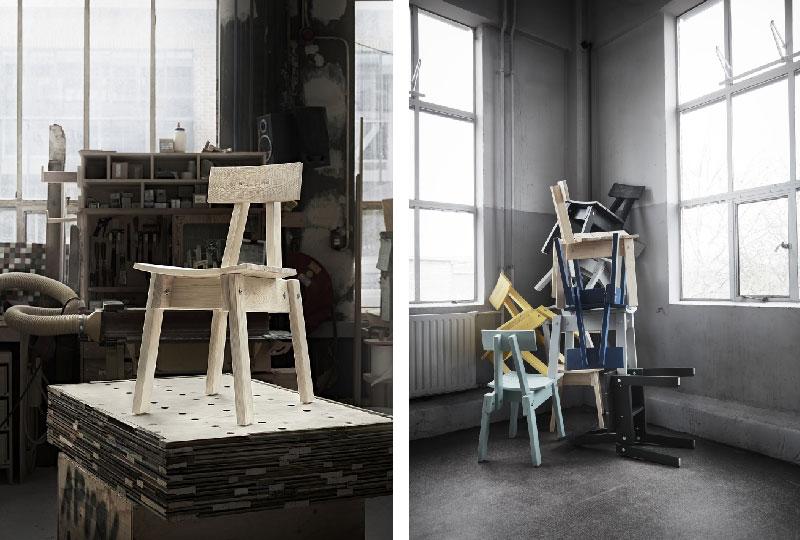 sedia legno INDUSTRIELL di IKEA