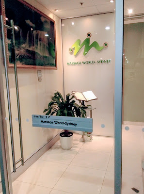 Office front, Massage World Sydney, Australia