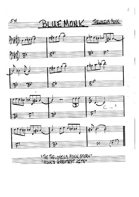 Partitura Violonchelo Thelonius Monk