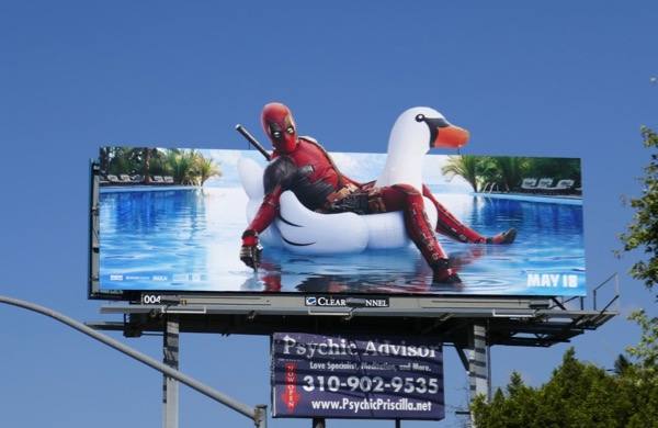 Deadpool 2 Inflatable swan billboard