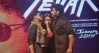 Arjun Kapoor & Sonakshi Sinha launch Tevar bollywood movie Trailer gallery.