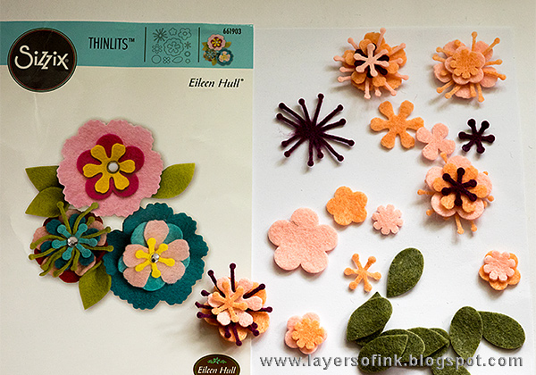 Layers of ink - Heartfelt Sizzix with Kunin Felt Tutorial by Anna-Karin