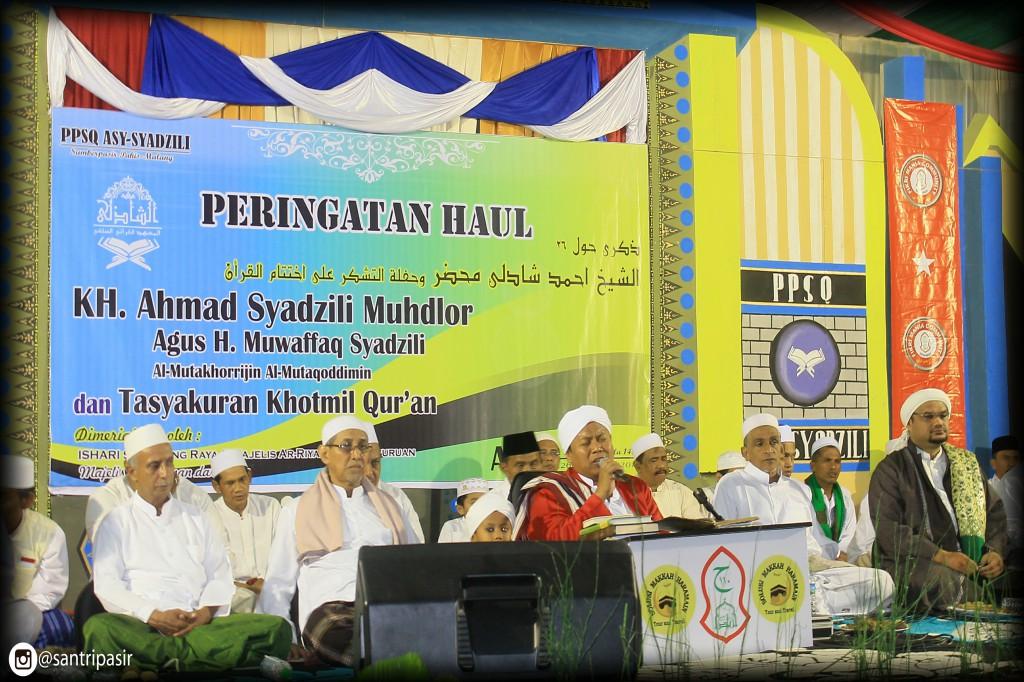 Mereka Hadir Dalam Rangka Haul Pendiri Ppsq Asy Syadzili Dan Dewan Masyayikh Serta Tasyakuran Khotmil Quran