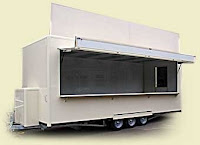 Mobile Food Cafe Trailer, Trailer cafe bergerak