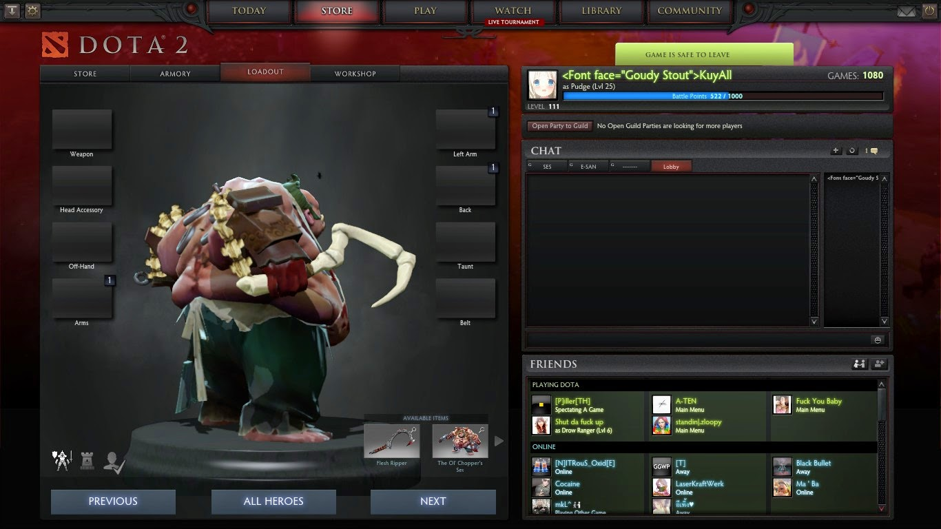 Dota 2 Mod Gravelmaw Deep Magma Immortal Items: Dota 2 Mod : Pudge Dragon Claw Hook Immortal Items