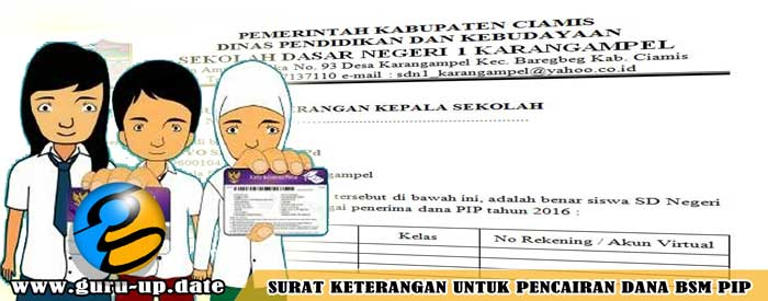 Contoh Format Surat Keterangan Kepala Sekolah Untuk Pencairan Dana BSM PIP