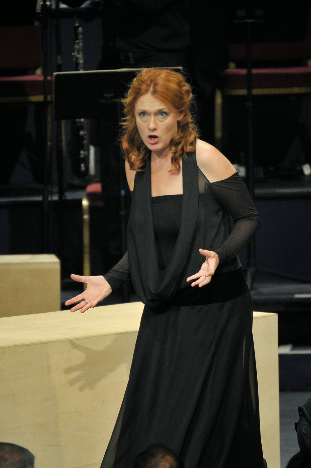 Magdalena Kozena in Bach's St Matthew Passion at the BBC Proms - photo credit BBC / Chris Christodoulou
