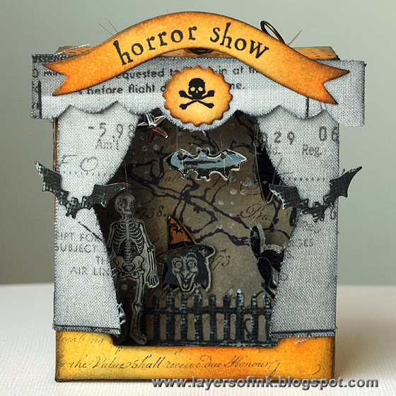 Horror Show Shadow Box - Layers of ink