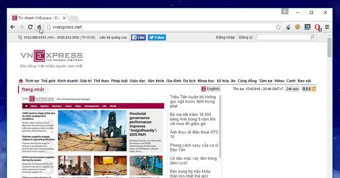 Cài đặt trang chủ trên Google Chrome
