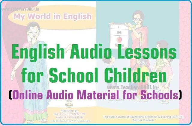 English Audio Lessons,Online Audio Material,AP TS Schools
