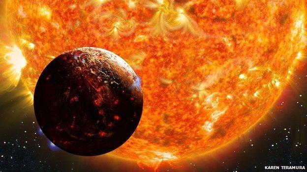 Kepler 78B arde todo el tiempo