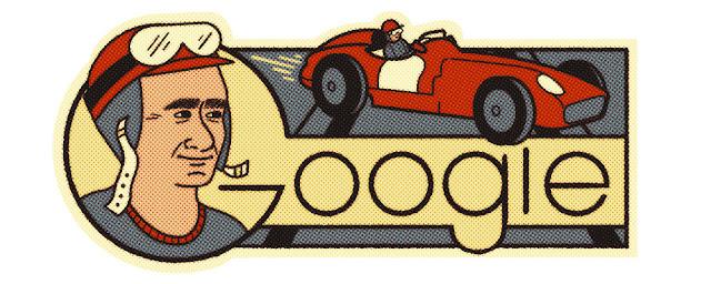Sang Legenda F1 Juan Manuel Fangio Menjadi Doodle Hari ini