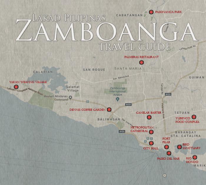 Zamboanga Tourist Spots Map