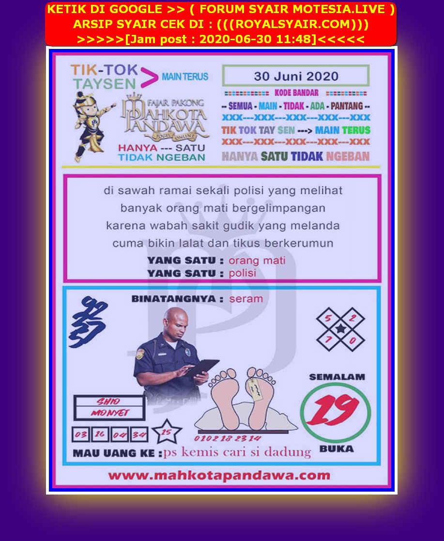 Kode syair Hongkong Selasa 30 Juni 2020 114