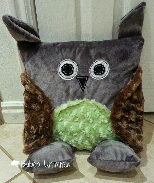 BabcoUnlimited.blogspot.com - Animal Pillow Pets, Gray Owl Pillow