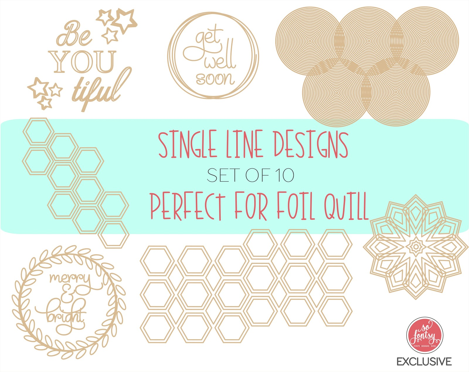 49 Sketch Designs and Fonts for Silhouette Sketch Pens and