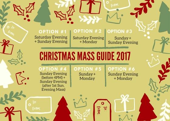 Christmas Mass Guide Infographic 2017