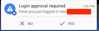 login approval notification in facebok