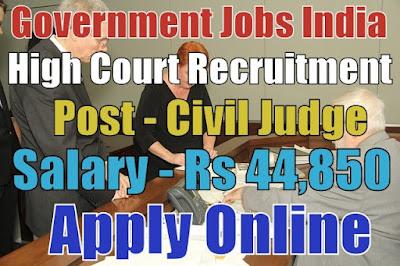 High Court Recruitment 2017 Gujarat Apply Online
