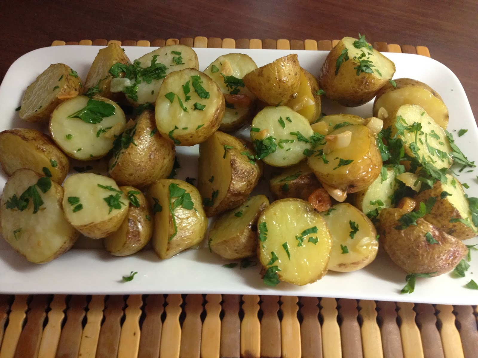 Guarnición de papas para platos de fiestas - ¡Huele Bien!