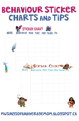 behavior sticker charts