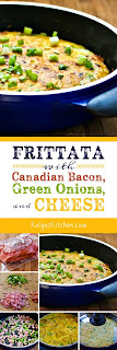 Frittata with Canadian Bacon, Green Onions, and Cheese [found on KalynsKitchen.com]