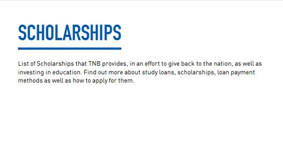 Yayasan TNB scholarship application criteria